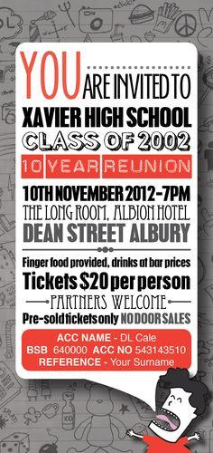 10 Year Reunion Invite
