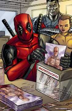 #Deadpool #Fan #Art. (Not My Deadpool) By:SachaLefebvre. (THE * 5 * STÅR * ÅWARD * OF: * AW YEAH, IT'S MAJOR ÅWESOMENESS!!!™)[THANK U 4 PINNING!!!<·><]<©>ÅÅÅ+(OB4E)