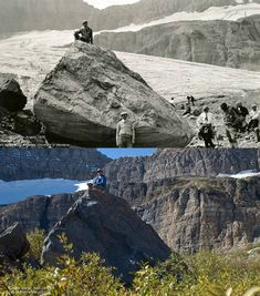 Grinnell Glacier, Montana, 1926 and 2008