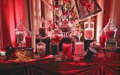 Moulin Rouge Theme - Burlesque Theme - Food Table Inspiration