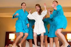 Bride and Bridesmaids Spa Robes Set of 6 Your choice of Colors and Personalization