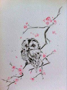 watercolor owl by Kibah8 on DeviantArt