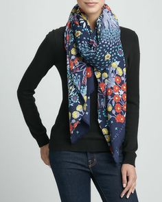 Madeline Botanical-Print Lightweight Scarf by MARC by Marc Jacobs at Bergdorf Goodman.