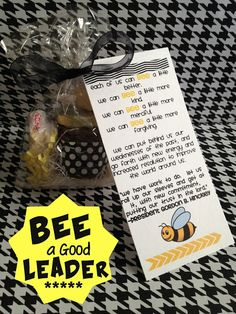 Leadership BEE handout. From Marci Coombs Blog