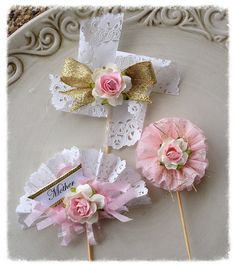 Mother's Day Decoration Shabby Chic Cupcake Toppers for