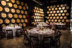 Chic Cellar Room Reception- Silver and Blush http://www.wienscellars.com/temecula-wedding/
