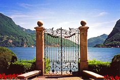 FAERY of TALES - timeless beauty - Portal Lugano - Gate in a park overlooking the lake in Lugano, Switzerland
