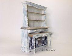 Shabby chic dresser. Dollhouse miniature by MinisbyAngie on Etsy