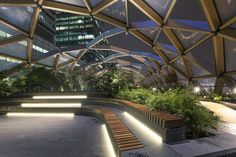 Photoshoot at Crossrail Place Roof Garden - Foster  Partners by bentynegate