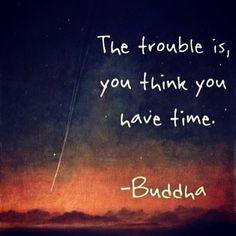 Wahre Worte Buddhas Also genieße das Leben und nutze den Tag. Carpe diem, bitches!