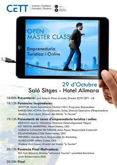 Open Màster Class CETT Empreneduria Turística i Online https://www.cett.es/campus/formularis/altaFormulariEsquema.aspx?nom=marketing.openmasterclassempreneduriaturisticaionline&idIdioma=ca