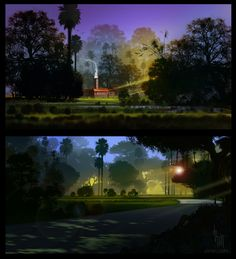 2D background art