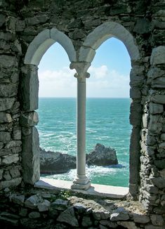 Window to the Sea, Porto Venere, Italy  stone