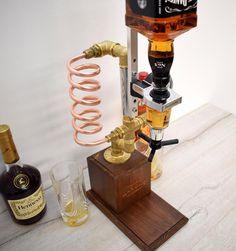 Whiskey Dispenser Liquor Gin Wine Alcohol mini Bar. | Etsy Whiskey Dispenser, Alcohol Dispenser, Copper Art, Copper Pipes, Garden Bar, Retirement Gifts, Bourbon, Gin, Make It Simple