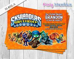 SKYLANDERS Invitations, Skylander Invite for Skylanders Adventure Birthday or Skylanders Giant Party - DIY PRINTABLE via Etsy