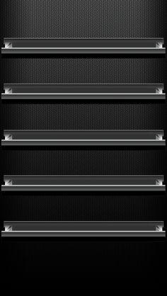 iPhone 5 Wallpaper Shelves 01