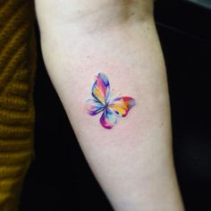 Image result for butterfly watercolour tattoo