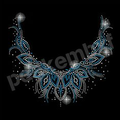 Elegant Neckline Rhinestone Motif Garment Accessories for Women