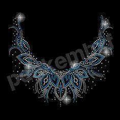 Elegant Neckline Rhinestone Motif Garment Accessories for Women