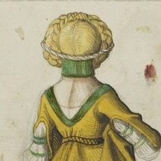 Das Sächsische Stammbuch 1546 Green Gefrens and great view of the back of the dress