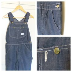 Vintage 70s Sears Tradewear Union Made Dark Denim by thisladyblue