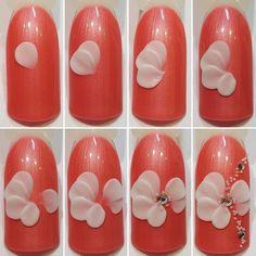 Nail art design is a necessary fashion for many girls who love beauty. How happy it is to be able to design their nails in a fashionable and gorgeous way. Most girls do a new nail design every few months or at a big party. 3d Nail Art, Art Deco Nails, 3d Acrylic Nails, Trendy Nail Art, Nail Art Hacks, 3d Nails, 3d Nail Designs, Nail Art Designs Videos, Nail Art Images