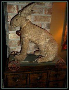 ....bunny on wheels!!