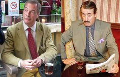 Would you buy a used car from this man? Nigel with Del Boy's pal Boycie. Played by John Challis, Boycie, was a popular character in BBC sitcom Only Fools and Horses