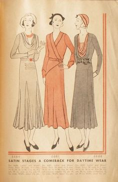 McCall Style News, October 1931 featuring McCall 6684, 6681 and 6668