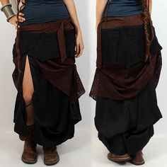 """JUPE LILOO """"UTOPIA""""•• Tribal Boho Roots Look ❃ Details : 2 stackable skirts to wear together or separately ; (79€)"""
