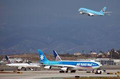 F-OSEA Air Tahiti Nui Airbus A340-313X/Korean Airlines Airbus A380