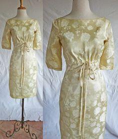 Emma Domb 1960s cocktail wedding formal dress in by DustyDesert