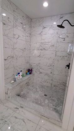Bathroom renovation Houston – Badezimmer – Home Epxy Small Bathroom With Shower, Master Bathroom Shower, Budget Bathroom, Simple Bathroom, Shower With Glass Door, Tile For Bathroom Floor, Bathroom Tile Patterns, Marble Tile Shower, Bath Tub Tile Ideas