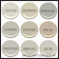 new Ideas for bath room paint colors benjamin moore popular colour Neutral Paint Colors, Interior Paint Colors, Paint Colors For Home, Interior Painting, Gray Interior, Best Greige Paint Color, Warm Gray Paint, Popular Paint Colors, Best Paint Colors