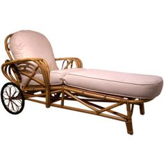 Objects In The Loft - Vintage Rattan Chaise Lounge Chair - 1stdibs