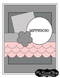 MFT Wednesday Stamp Club Sketch no. 30. #cards #sketch #card_making #scrapbooking