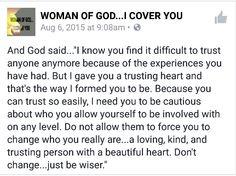 #WomanOfGod Don't Change...Be Wiser!  #Trust #Wisdom #RelationshipGoals