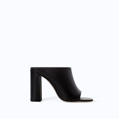 ZARA - WOMAN - LEATHER HIGH HEEL MULES