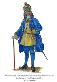 Grenadier officer, Sweden.
