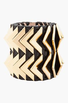 Balmain . Cuff . Black and Gold