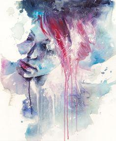 Moody portrait.Subject matter, technique, emotion, painterly