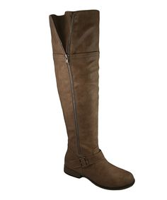 Taupe Buckle Legend Boot