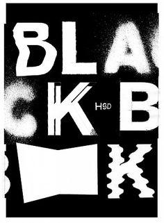 Tino Graß –  blackbooks  announcement-poster for exhibition / plakat zur ausstellung: blackbooks – stefan schuelke fine books, hochschule düsseldorf, university of applied sciences, 2. – 16.10.2015.