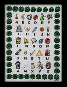 One day I will do this... Legend of Zelda Z is for Zelda Cross Stitch