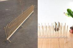 ingenious shoe rack by Sebastian Goldschmidtböing