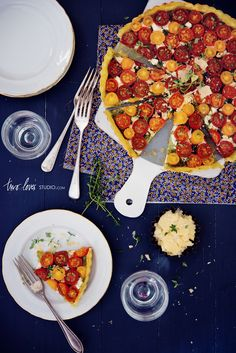 heirloom cherry tomato tart by two loves studio