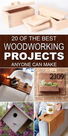 #woodworkingplans #woodworking #woodworkingprojects 20 of the best woodworking projects for woodworkers and crafters of all skill levels