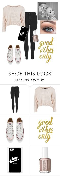 """Casual"" by iheartpastel ❤ liked on Polyvore featuring moda, Topshop, Converse, Casetify, Essie, women's clothing, women, female, woman e misses"