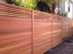 wood fence horizontal top - Google Search