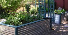 Galvinzed aluminum garden